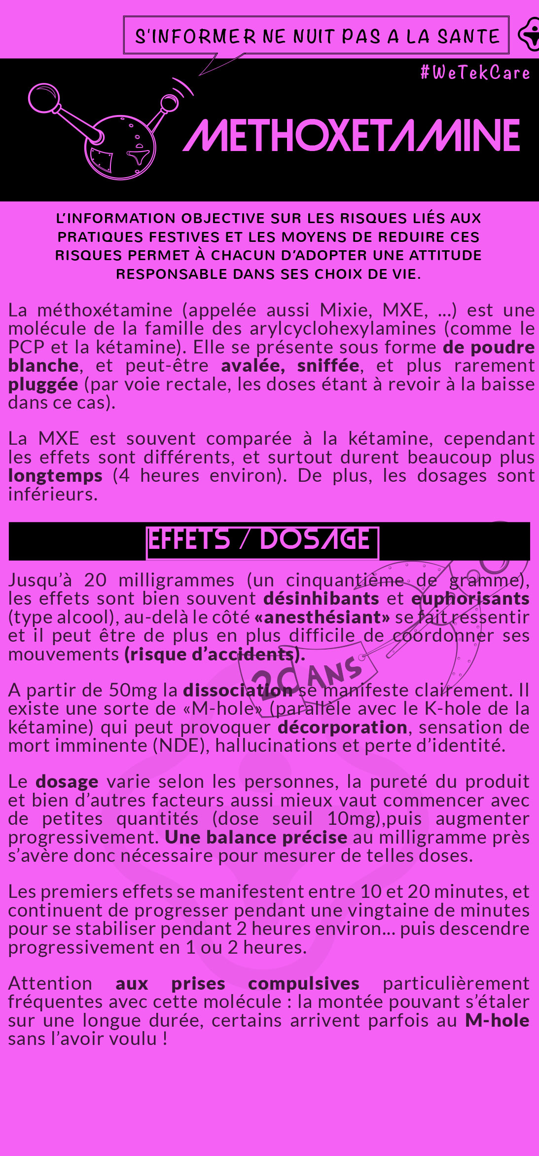 Flyer Méthoxétamine